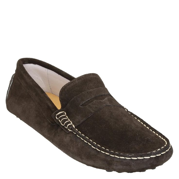 Handmade men's driving moccasins in dark brown suede - Italian Boutique €194