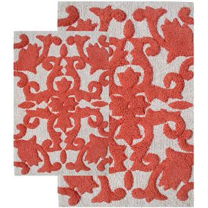 Best Bathroom Remodel Images On Pinterest Apartment Ideas - Orange bath rug set for bathroom decorating ideas