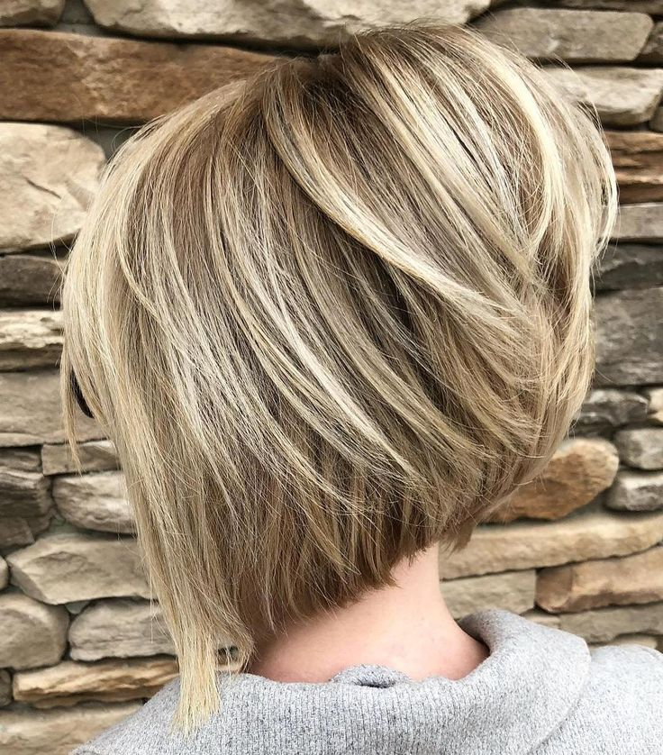 Stacked Angled Bob with Elevated Crown