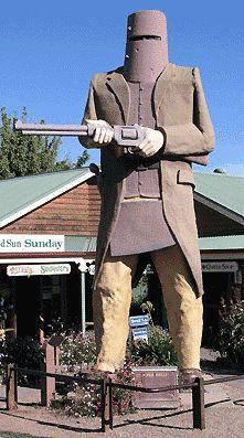 Big Ned Kelly Statue, Glenrowan Victoria Australia