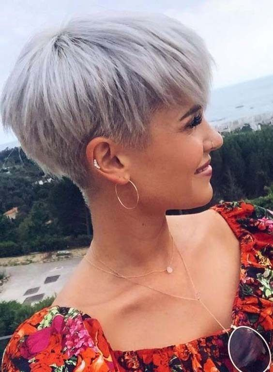 Kurze Pixie Frisuren Blonde Cuts #blond #styles #hairstyle #cure #pixi ... -