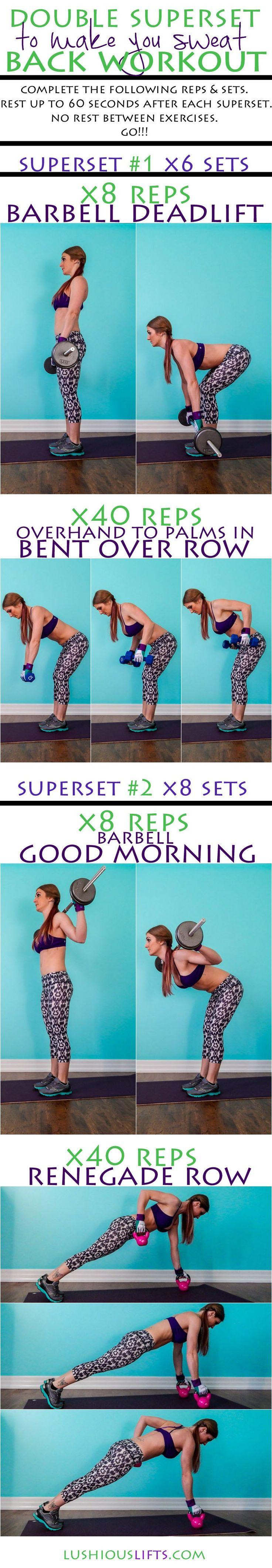 Double Superset {to make you sweat} Back Workout || lushiousLIFTS.com