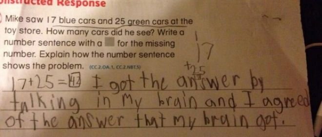 32 Hilarious Kids' Test Answers