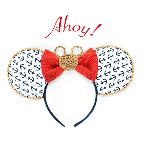 Disney Cruise and Yacht Club inspired Ears| Nautical Ears| Cruise Minnie Ears