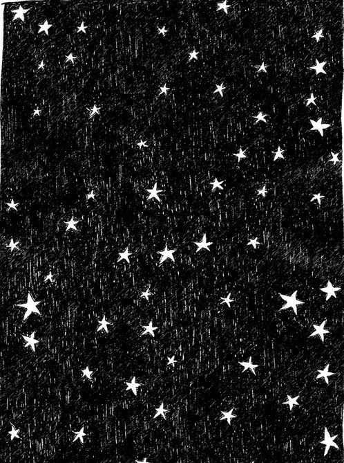 Black and white stars illustration. http://obus.com.au/