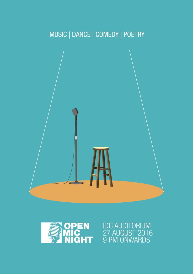 """Check out my @Behance project: """"Open Mic Night Poster""""…"""