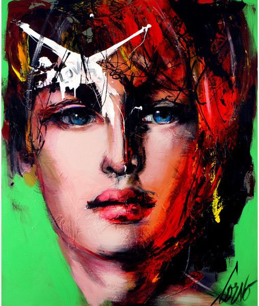 Face on Green Print, Limited Edition of 10. Dimensions: 40'' x 33''