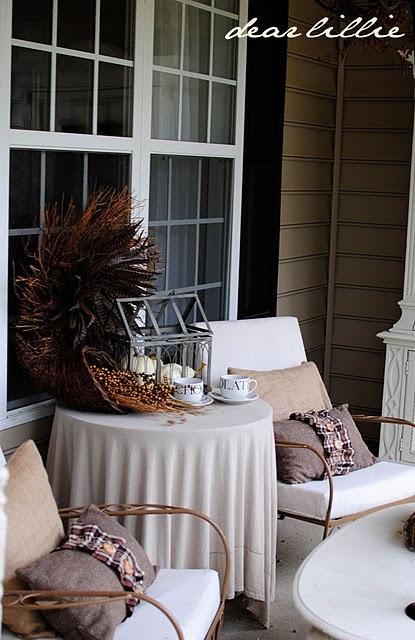great fall outdoor decor | fantasic fall | Pinterest