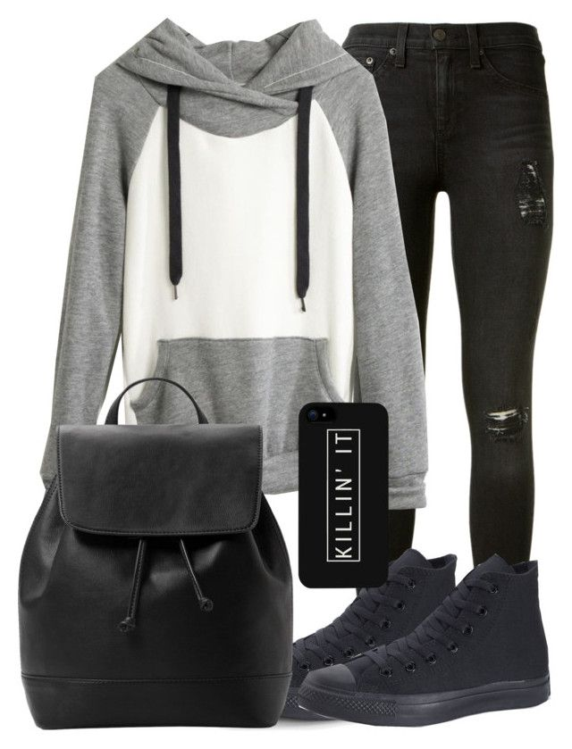 Stiles Stilinski Inspired Outfit by lili-c on Polyvore featuring Madewell, rag & bone, Converse, MANGO and LG
