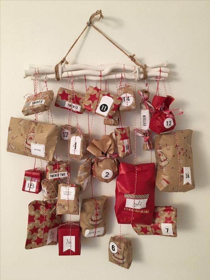 Advent calendar, christmas , homemade, diy. Calrndrier de l'avent fait maison