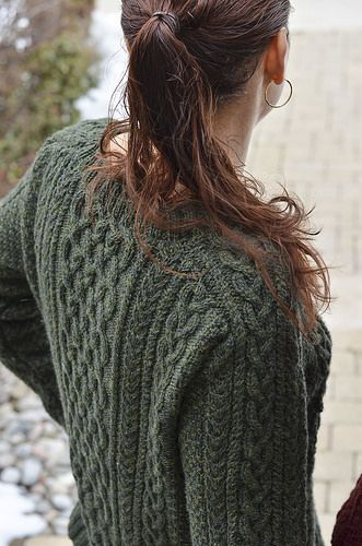 Love this new pattern from Glenna C! Shire Aran.