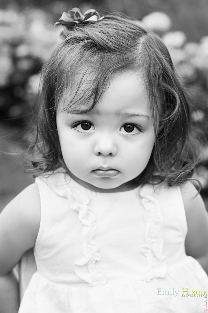 little girl - pouty face - portrait in black and white | Emily Hixon Photography (www.emilyhixon.com)