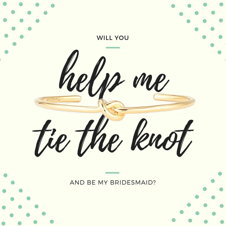 Will you help me tie the knot and be my bridesmaid?  A simple and classic bridesmaid gift and ask and invitation!