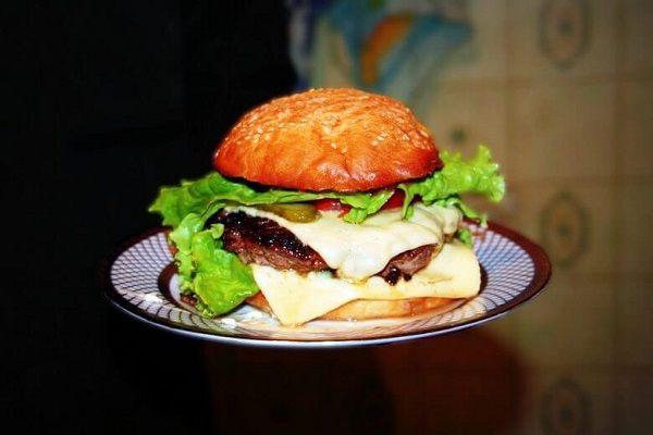 Hamburger with beef. healthy snacks, healthy meals, healthy snack ideas, snack ideas