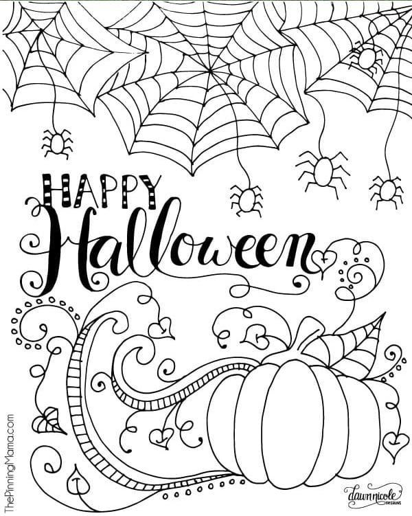 Free Halloween Coloring Page Free Halloween Coloring Pages For Adults In 2020 Free Halloween Coloring Pages Halloween Coloring Pages Printable Halloween Coloring Pages
