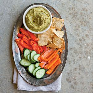 Split Pea Hummus | MyRecipes.com made in sept 14 after cleaning out pantry and having 1c split green peas to use