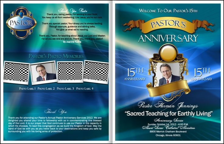 44 Best Images About Church Program Ideas For Christmas On: Loyalty Pastor Anniversary Program