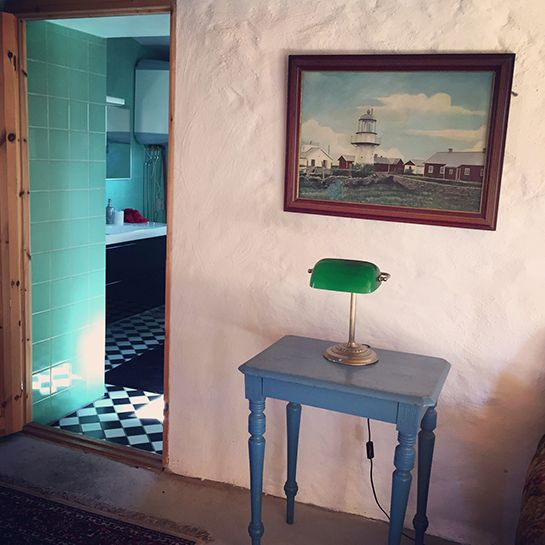 Slow Train B&B, Fårö, Gotland, Sweden. #retro #scandinavian #vintage #decor #checkered #floor