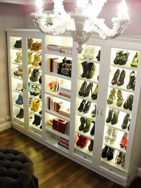 Are we dreaming? Shoes galore... and organized too.
