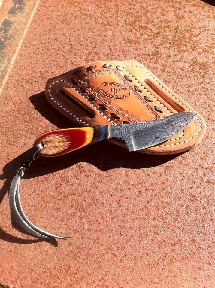 Belt knife sheath