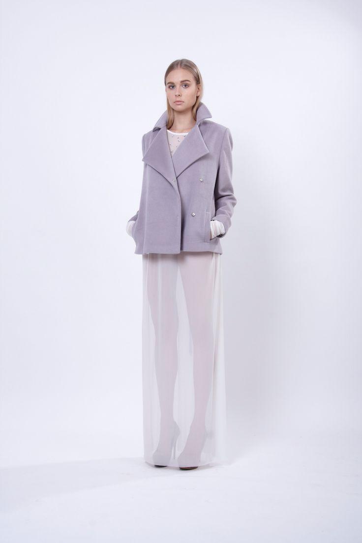 jacket with oversized lapels, design Lucie Kutálková, LEEDA store