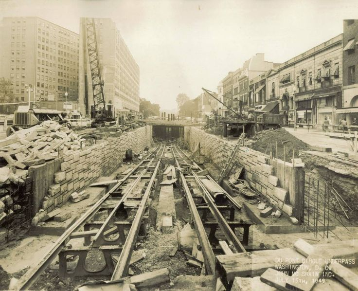Capital Transit Dupont Circle Underpass Construction, July 15, 1949 (DDOT Photograph Collection) (Ron Tutt).