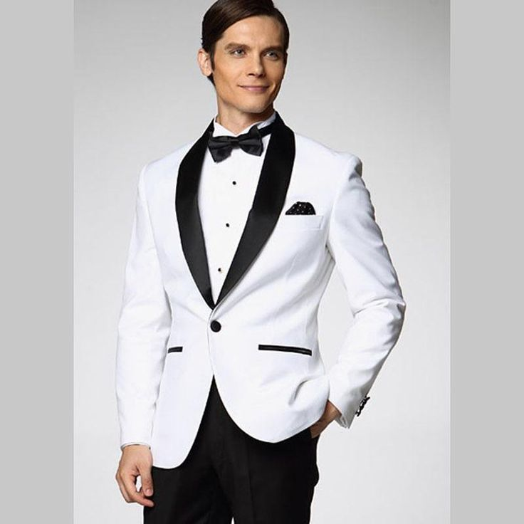 Cheap Custom Made Ivory Men Tuxedos Wedding Suits For Men Shawl ...