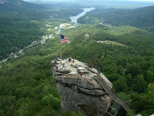 Chimney Rock Park located 25 miles southeast of Ashville, N.C.  I want to climb this just because.