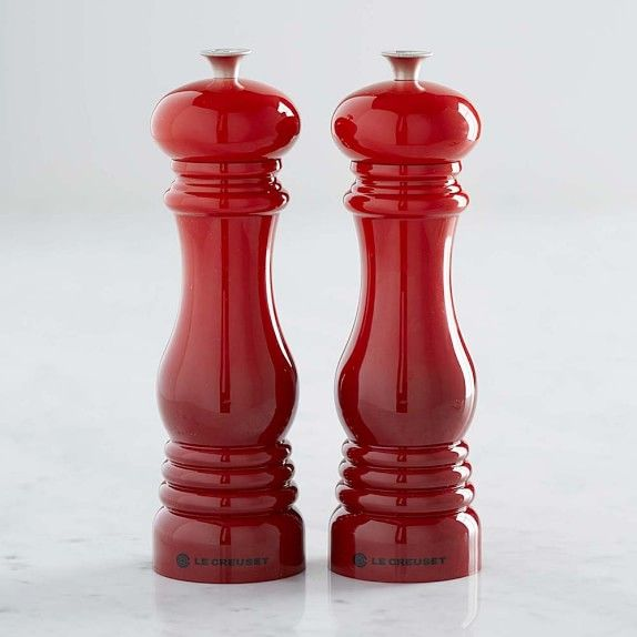 Le Creuset Red Salt & Pepper Mills | Williams-Sonoma