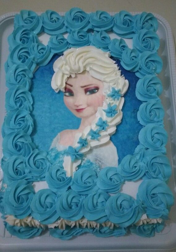 Bolo Frozen 4 Kg Bolos Cobertura Chantilly Infantil