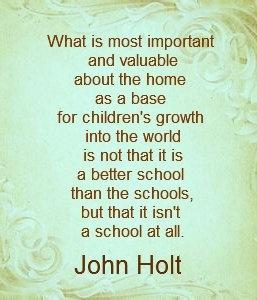 homeschool, john holt, by Karen