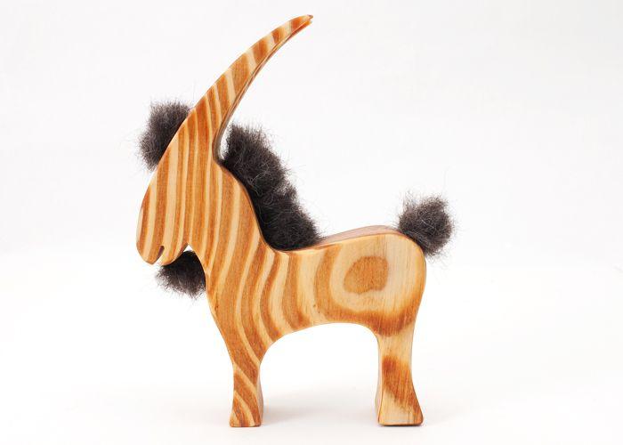 Trælegetøj til børn Gedebuk - Tinga Tango Designbutik. Interiørbutik - Interior - Children - Børn - Toys - Legetøj - Brugskunst - Design - Kunst - Webshop - Billig fragt - spil - games - Djeco - Janod - Sebra - Esthex