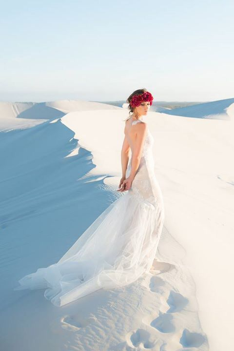 #tbt remembering the flawless feeling the #ElaineBlomBRIDE 'Carlotta' Dress gives you with her open back and tulle train  Contact us to make an appointment and come see for yourself!  Photography: Riaan West