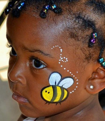 easy face painting examples | 15 Beautiful Bee Face Paint Pictures And Ideas Plus