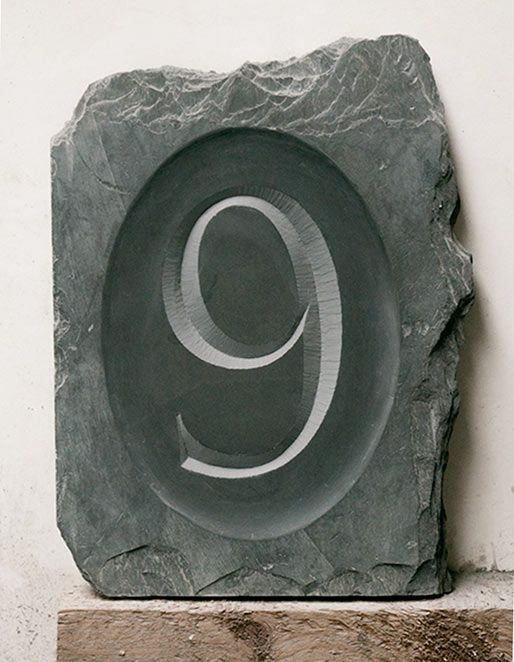 Handcarved House Number