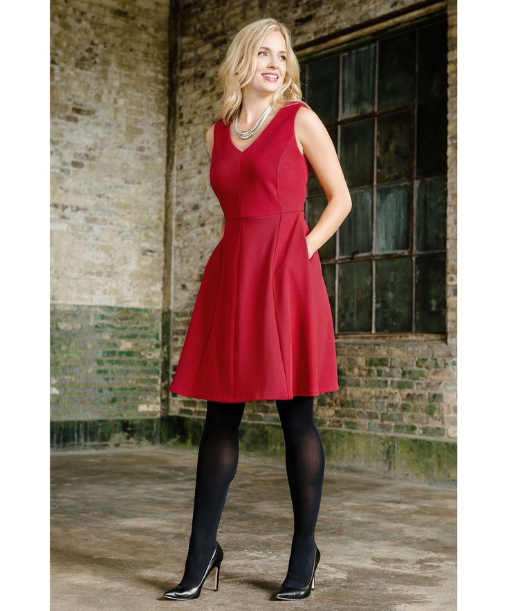 Flawless Fit & Flare Dress in Scarlet #rickis #fall2015