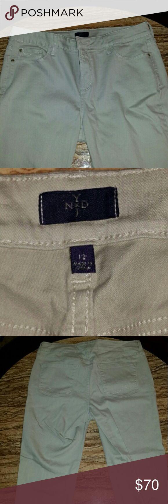 Womens jeans Nydj. Khaki color. Size 12. Like new NYDJ Jeans Straight Leg