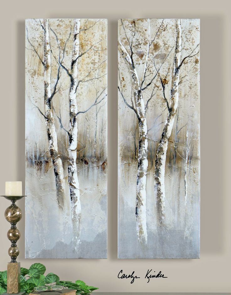 Image result for images of birch paintings art for What paint for canvas