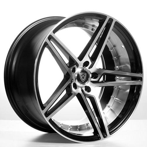 "20"" MQ Wheels 3258 Black W Polish Inner Rims *Deep Concave (Reg $1499) #AudioCity"