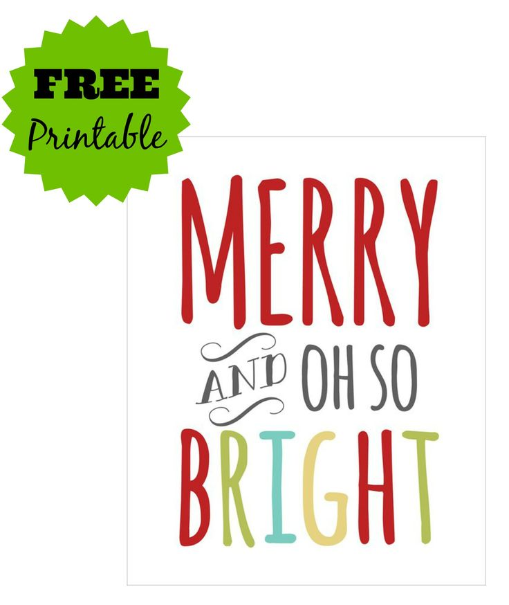 FREE Merry and Bright Printable - Grab it Now!