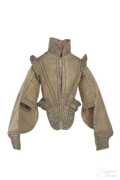 Doublet, 1598-1610 From Les Arts Décoratifs via Europeana Fashion Can't trace proper origin online. http://www.architecturaldigest.com/blogs/daily/2015/04/fashioning-the-body-exhibition-slideshow_slideshow_item4_5