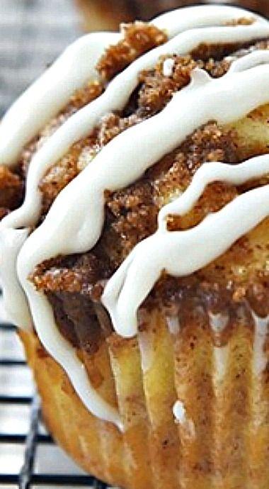 Cinnamon Roll Muffins - no yeast involved! ❊