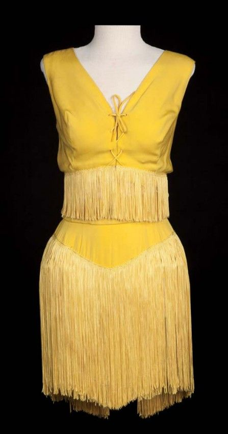"Two piece goldenrod yellow ""cooch dance"" costume worn by Janet Leigh as ""Rosie DeLeon"" in Bye Bye Birdie (1963)"