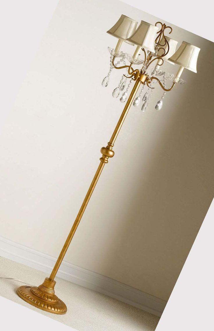 chandelier floor lamp----pinned by Annacabella