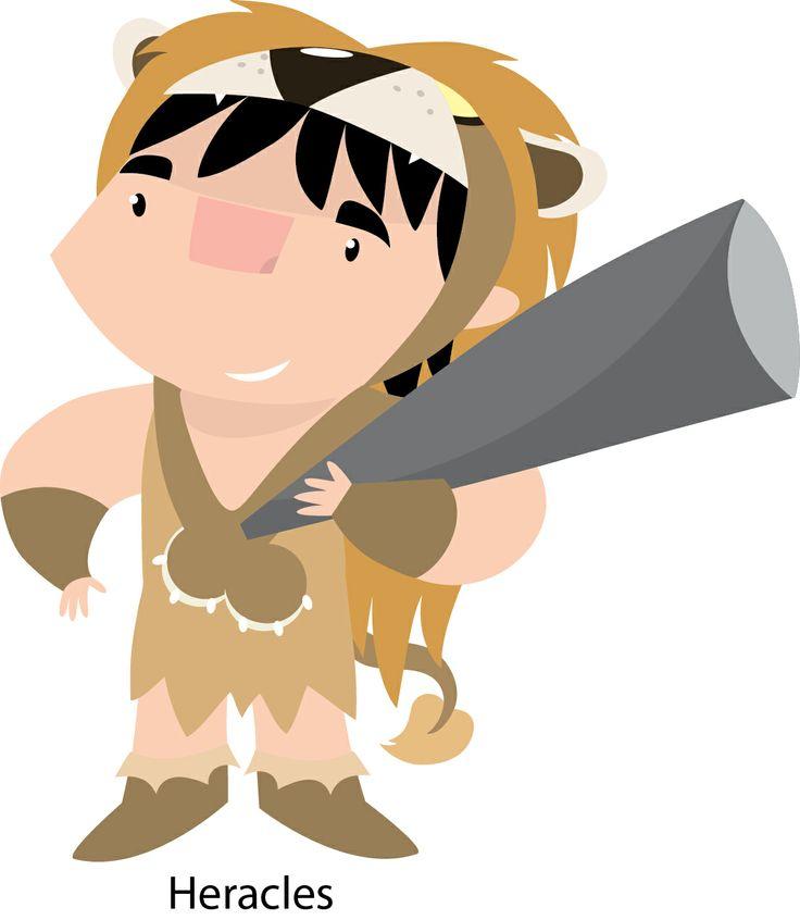 Diseño de personaje: Heracles para colección infantil de pequeños heroes.