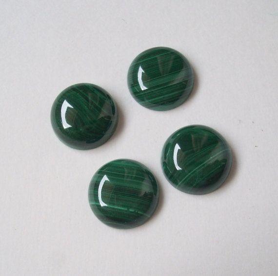 Gemsdeal 12mm Malachite Cabochon Round Wholesale Gemstone 100%