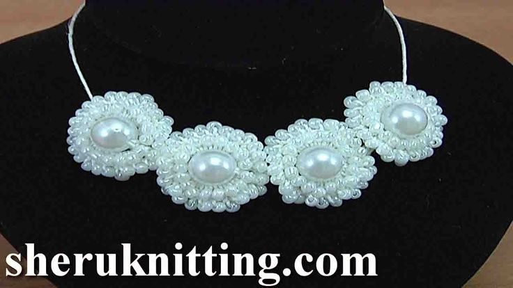 How to Crochet Ring Necklace  Tutorial 148 Crochet Jewelry Video