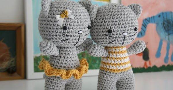Вяжем амигуруми: Котики мальчик и девочка