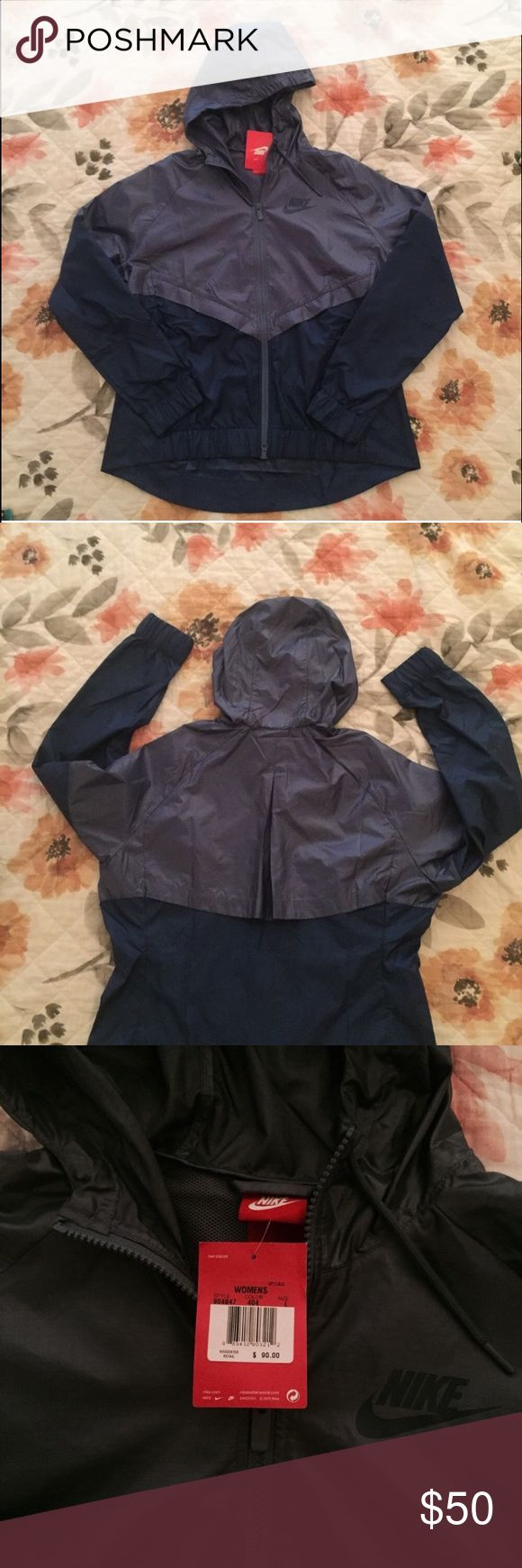 NWT Nike Colorblocked Windrunner Jacket NWT Nike jacket. Versatile and ventilated, this jacket features a multi-panel scuba hood that zips up to the chin and ribbed cuffs and hem for that snug fit. Mesh lining. Nike Jackets & Coats