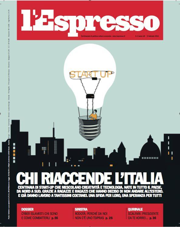 La copertina dell'Espresso in edicola da venerdì 30 gennaio